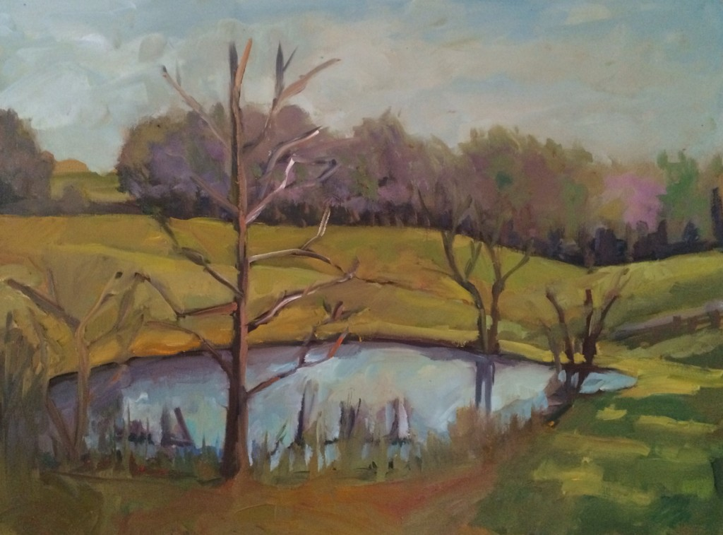 Early Spring, oil on canvas, 18 x 24 inches