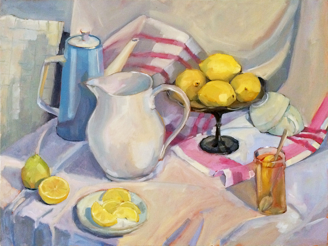 Lemon Portrait, 2014, oil on canvas, 30 x 40 inches, private collection