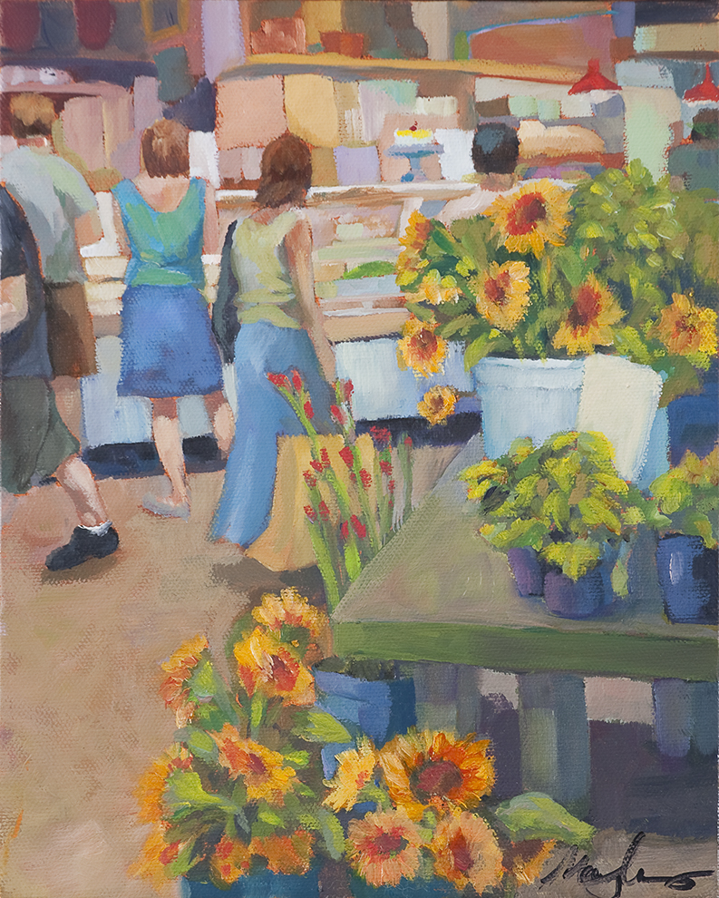 Reading Market, 2012, oil on canvas, 10 x 8 inches, private collection