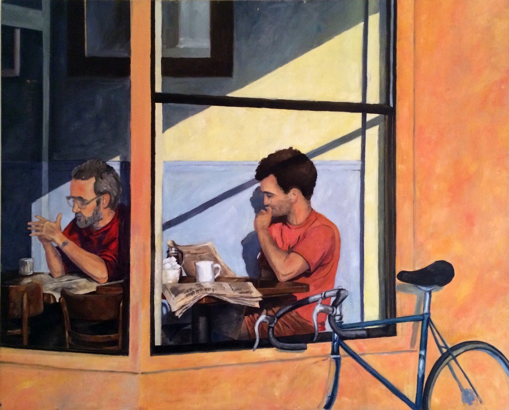 Sausilito Coffee, oil on canvas, 32 x 48 inches