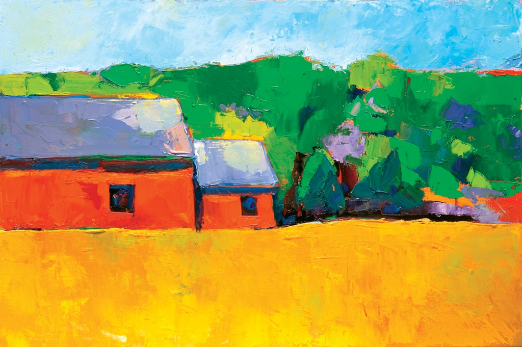 Red Barn, oil on canvas, 18 x 24 inches, private collection