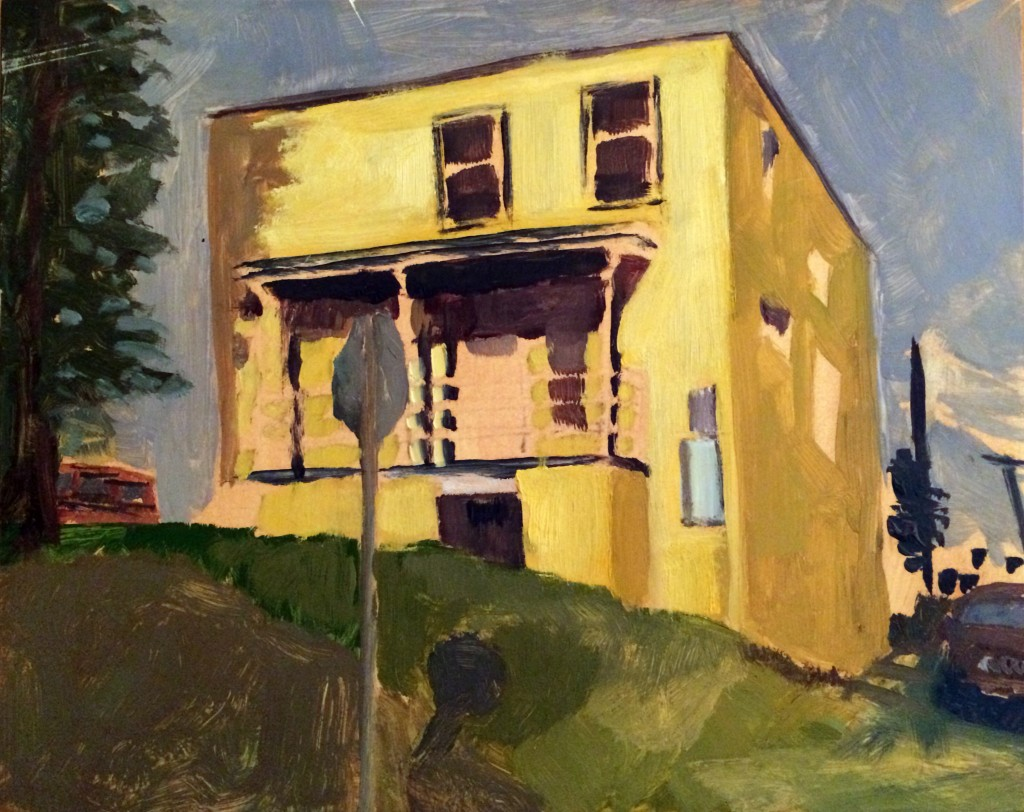 Belmont building, 2016, oil on panel