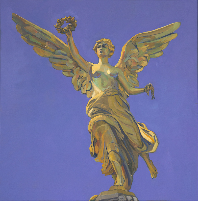 Angel of Independence, 2017,  oil on canvas, 36 x 36 inches