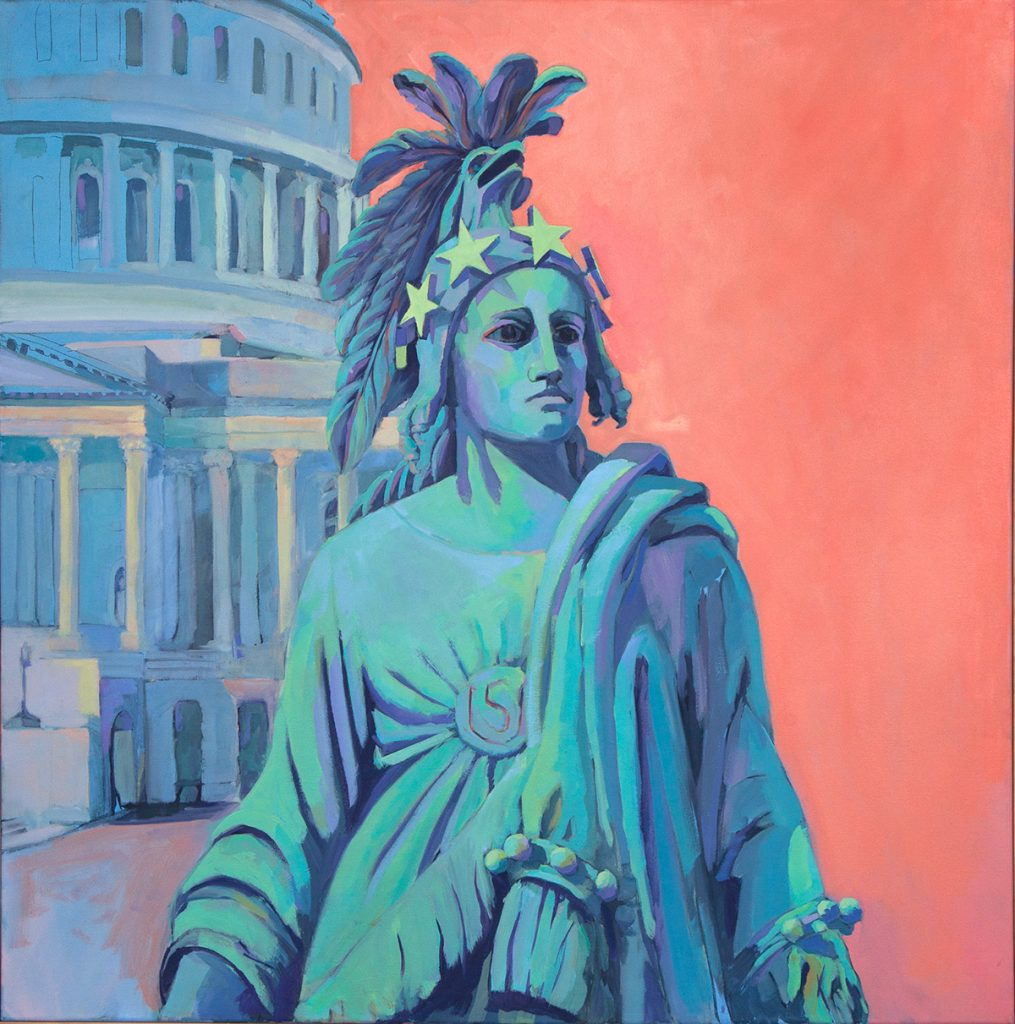Freedom, oil on canvas, 2017, 36 x 36 inches