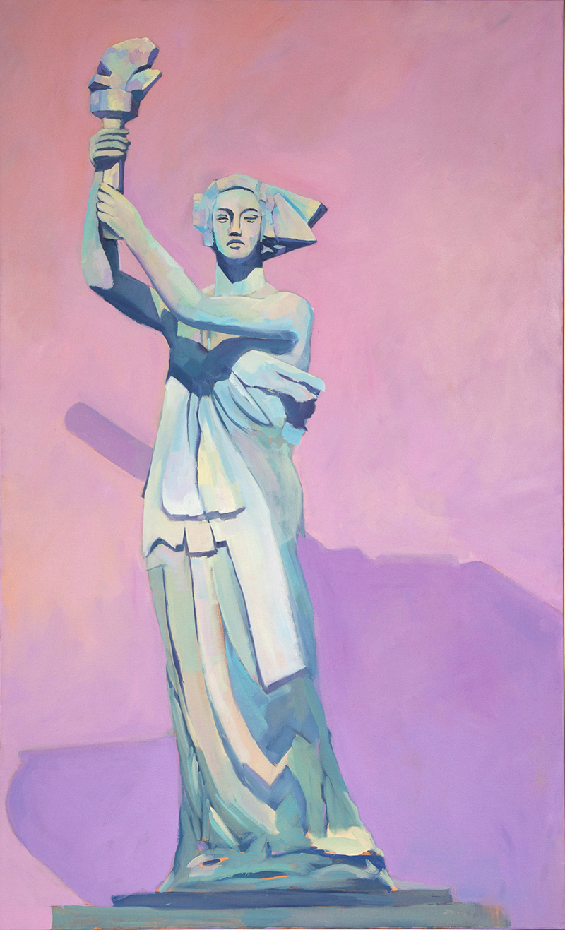 Goddess of Democracy, 2017,  oil on canvas, 60 x 36 inches