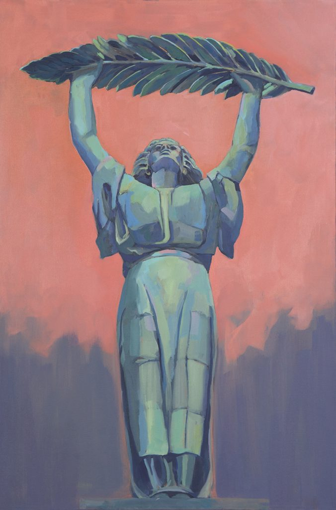 Liberation, 2017, oil on canvas, 36 x 22 inches, private collection