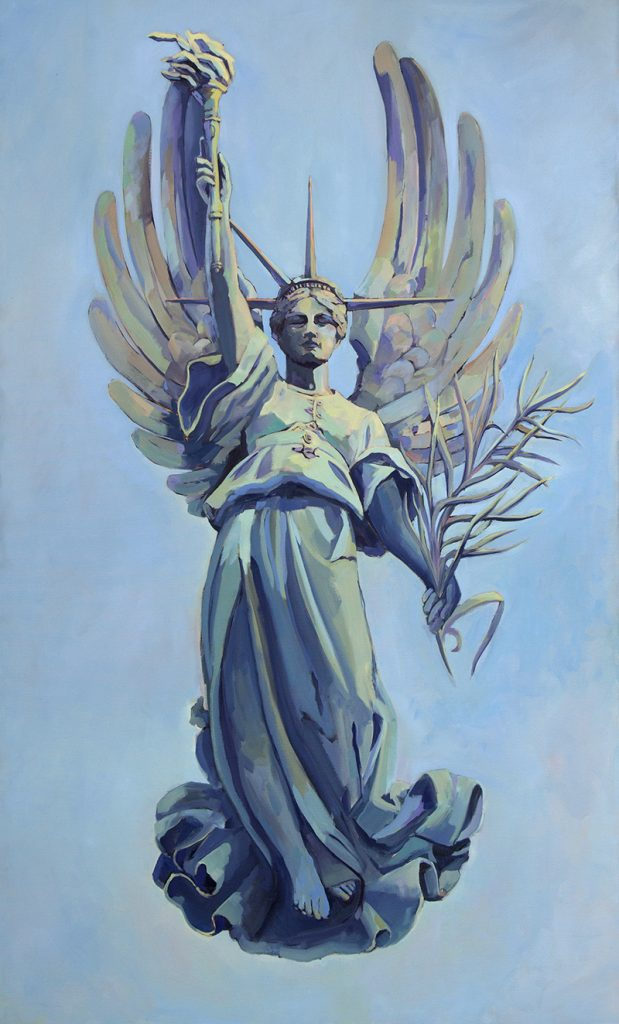 Lightness of Liberty, 2017, oil on canvas, 60 x 36 inches, private collection