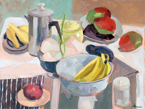Starting Fresh, 2015, oil on canvas, 18 x 24 inches